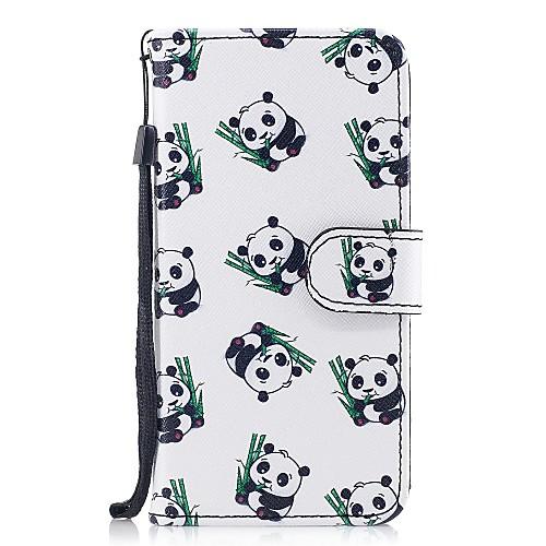 Кейс для Назначение Apple iPhone X iPhone 8 Бумажник для карт Кошелек со стендом Флип С узором Чехол Панда Твердый Кожа PU для iPhone X детская футболка классическая унисекс printio король панда