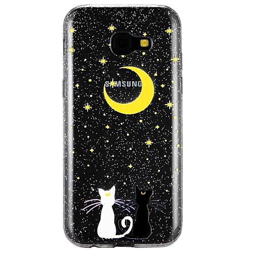Case For Samsung Galaxy A5(2017) / A3(2017) Translucent / Embossed / Pattern Back Cover Cat / Cartoon / Glitter Shine Soft TPU for A3(2017) / A5(2017) / A7(2017)