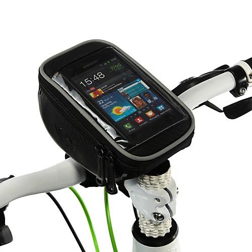 ROSWHEEL Сотовый телефон сумка / Бардачок на руль 5 дюймовый Сенсорный экран Велоспорт для Samsung Galaxy S6 / iPhone 5c / iPhone 4/4S / iPhone 8/7/6S/6 / iPhone 8 Plus / 7 Plus / 6S Plus / 6 Plus
