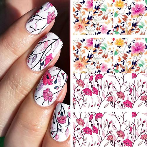 1 pcs Наклейка для переноса воды / Наклейка для фольги / Наклейка для ногтей Профессиональный / Наклейки для ногтей Наклейки Гладкий стикер / Наклейки Для праздника / вечеринки / На каждый день наклейки для ногтей f9s 12 56754