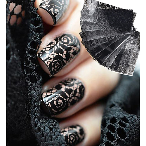 10 Очаровательный Наклейка для ногтей черный увядает Украшение для дизайна ногтей бады здоровье и красота а нематод для внутренней гигиены противогельминтный