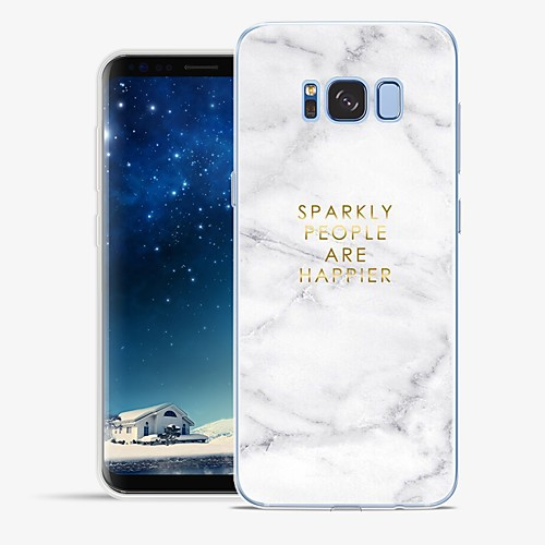 Case For Samsung Galaxy S8 Plus / S8 Pattern Full Body Cases Word / Phrase / Marble Soft TPU for S8 Plus / S8 / S7 edge