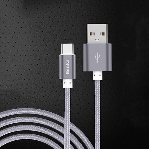 USB 2.0 Type-C Адаптер USB-кабеля Кабель для зарядки Для передачи данных Кабель Плетение Кабель Назначение Samsung Huawei Xiaomi 100 cm