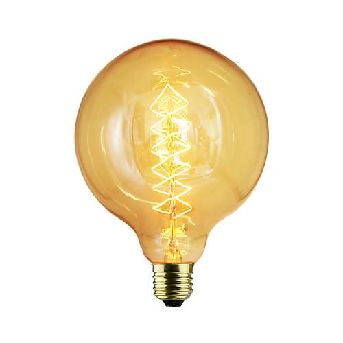 1шт 60 W E26 / E26 / E27 / E27 G125 Лампа накаливания Vintage Эдисон лампочка 220-240 V