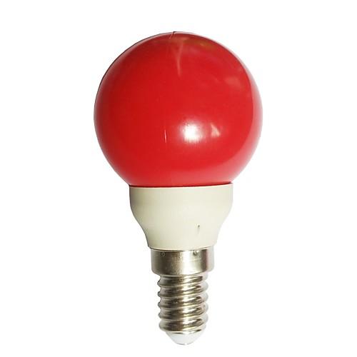 1шт 0.5W 15-25lm E14 Круглые LED лампы G45 7 Светодиодные бусины Dip LED Красный 100-240V