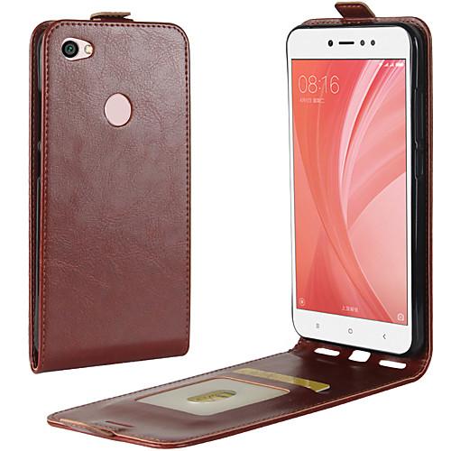 Кейс для Назначение Xiaomi Redmi Примечание 5A Redmi 4X Бумажник для карт Флип Чехол Сплошной цвет Твердый Кожа PU для Redmi Note 5A сотовый телефон xiaomi redmi note 5a prime 3gb ram 32gb grey