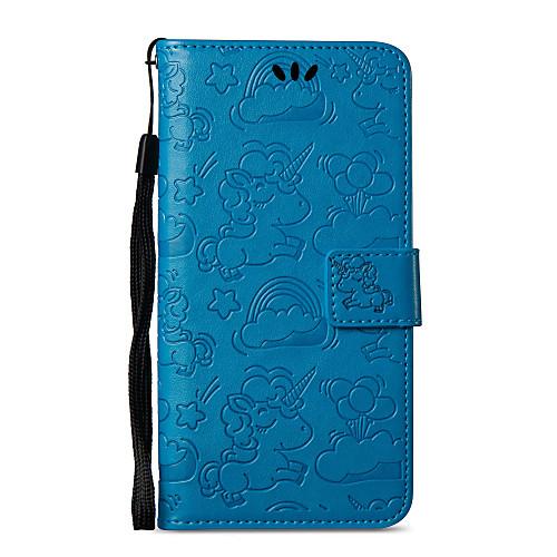 Кейс для Назначение Nokia Nokia 8 Nokia 6 Бумажник для карт Кошелек со стендом Флип С узором Чехол единорогом Твердый Кожа PU для Nokia 8 nokia 5