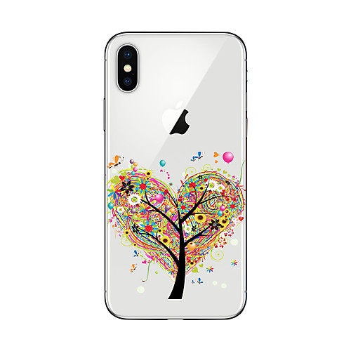 Кейс для Назначение Apple iPhone X iPhone 8 Plus Кейс для iPhone 5 iPhone 6 iPhone 7 Прозрачный С узором Кейс на заднюю панель дерево кейс для назначение iphone 7 plus iphone 7 iphone 6s plus iphone 6 plus iphone 6s iphone 6 iphone 5 iphone 5c iphone 4 4s apple iphone x