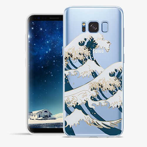 Case For Samsung Galaxy S8 Plus / S8 Pattern Back Cover Lines / Waves / Scenery Soft TPU for S8 Plus / S8 / S7 edge