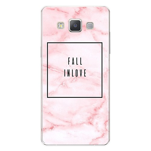Case For Samsung Galaxy A7(2017) Pattern Back Cover Word / Phrase / Marble Soft TPU for A3(2017) / A5(2017) / A7(2017)