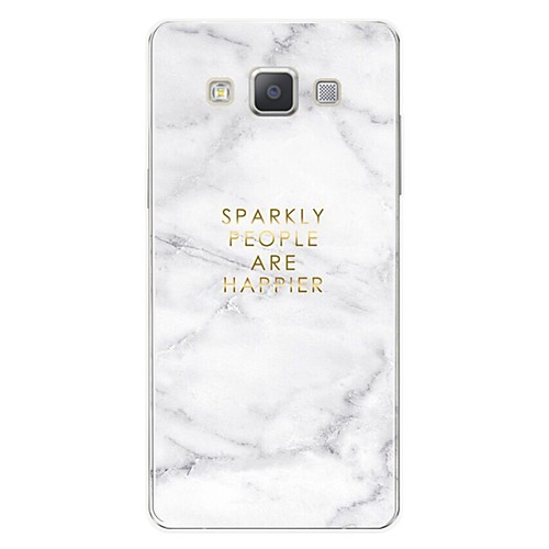 Case For Samsung Galaxy A7(2017) Pattern Back Cover Word / Phrase / Marble Soft TPU for S / A3(2017) / A5(2017)