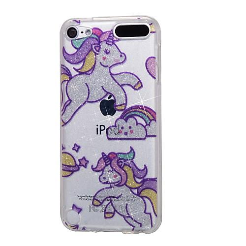чехол для Apple ipod touch5 / 6 чехол для случая с высоким проникающим порошком imd радуга лошадь мягкий чехол для телефона tpu стоимость