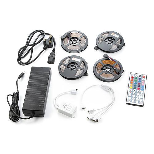 ZDM 4x5M Наборы ламп 60PCS/Meter светодиоды 1 адаптер 12V 6A RGB Можно резать Самоклеющиеся 12V 1 комплект