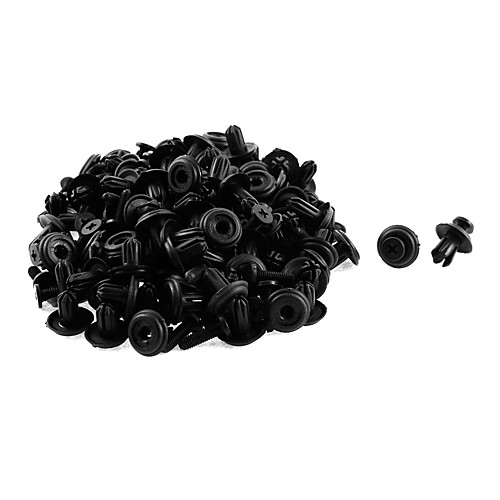 50 шт. 14 х 6 мм. Черный пластиковый бампер.