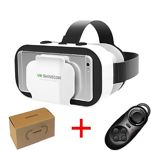 VR SHINECON 5.0 Glasses Virtual Reality 3D Glasses for 4.7 - 6.0 Inch Phone with Controller