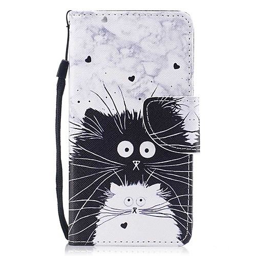 Case For Samsung Galaxy J7 (2017) / J5 (2017) Wallet / Card Holder / with Stand Full Body Cases Cat Hard PU Leather for J7 (2017) / J5 (2017) / J5 (2016)