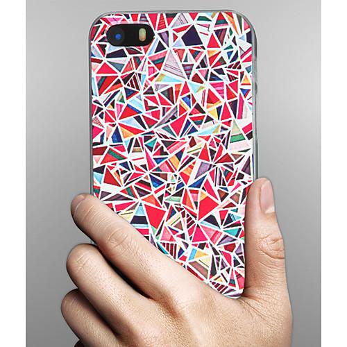 Кейс для Назначение Apple iPhone X iPhone 8 iPhone 8 Plus Кейс для iPhone 5 С узором Кейс на заднюю панель Геометрический рисунок Твердый чехол для для мобильных телефонов cy apple iphone 4 4 g 4s 5 5 g 5s 5c 6 6 for 4 4s 5 5s 5c 6 or 6plus