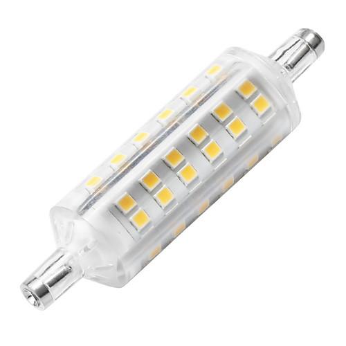 YWXLIGHT 1шт 6W 500-600lm R7S LED лампы типа Корн 72 Светодиодные бусины SMD 2835 Декоративная Светодиодная лампа Тёплый белый 220-240V