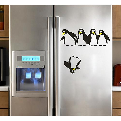 Абстракция Животные Наклейки 3D наклейки Декоративные наклейки на стены Наклейки на холодильник, Бумага Украшение дома Наклейка на стену наклейка злой холодильник