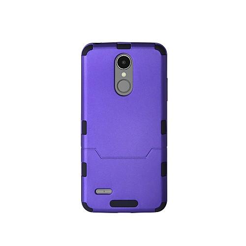 Кейс для Назначение LG K8 (2017) K10 (2017) Защита от удара Чехол Сплошной цвет Твердый пластик для LG K10 (2017) LG K8 (2017) клип кейс oxy fashion fine для lg k8