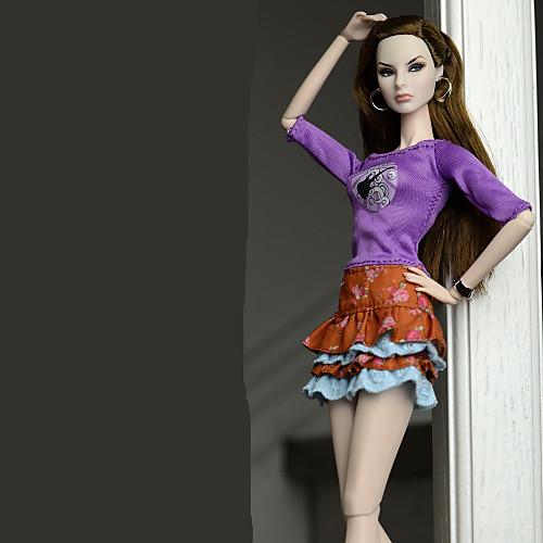 Нижняя часть Юбки Топы Юбки Топ Для Кукла Барби Regency Полиэстер/Хлопок Кофты Юбки Для Девичий игрушки куклы