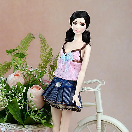 На каждый день Юбки / Платье / строп 2 pcs Для Barbiedoll Полиэстер Платье Для Девичий игрушки куклы фото