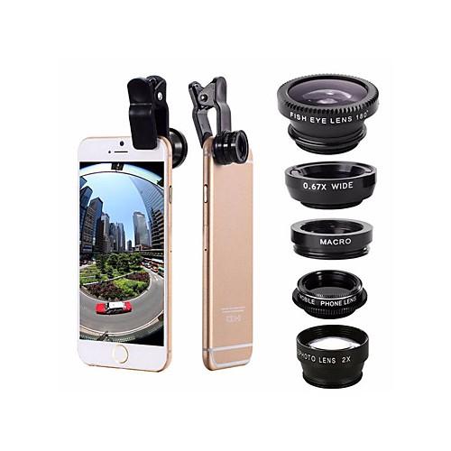 Объектив для мобильного телефона Объектив фиш-ай / Широкоугольный объектив / Макролинза Aluminum Alloy 2X 0.01m 30 Высокое разрешение