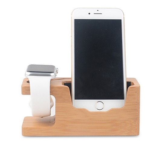 Купить со скидкой Apple Watch Стенд с адаптером Other Бамбук Стол