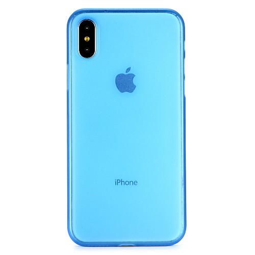 Кейс для Назначение Apple iPhone 6 iPhone 7 Полупрозрачный Чехол Сплошной цвет Прозрачный Мягкий ПК для iPhone X iPhone 8 Pluss iPhone 8