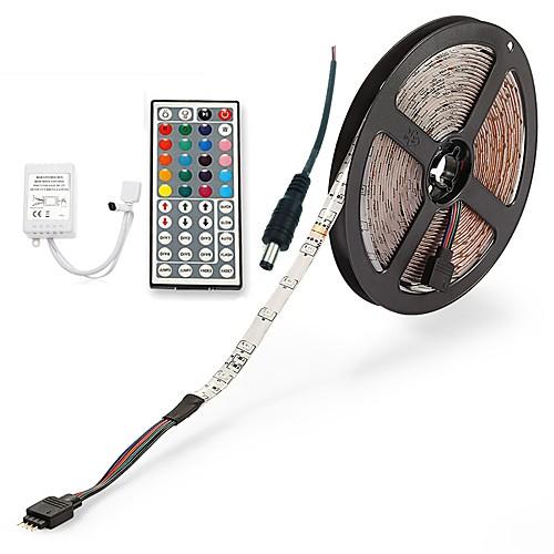 ZDM 5 метров Наборы ламп 300 светодиоды 1 пульт дистанционного управления 44Keys 1 кабель переменного тока RGB Можно резать
