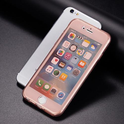 Назначение iPhone 8 Plus iPhone 7 iPhone 7 Plus iPhone 6 iPhone 6 Plus Чехлы панели Прозрачный Чехол Кейс для Сплошной цвет Мягкий