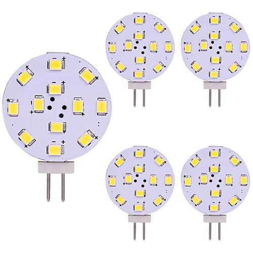 5 шт. 2W 180lm G4 Двухштырьковые LED лампы 12 Светодиодные бусины SMD 2835 Светодиодная лампа Тёплый белый Холодный белый 12V modern 2w 180lm 2800k 2 led up
