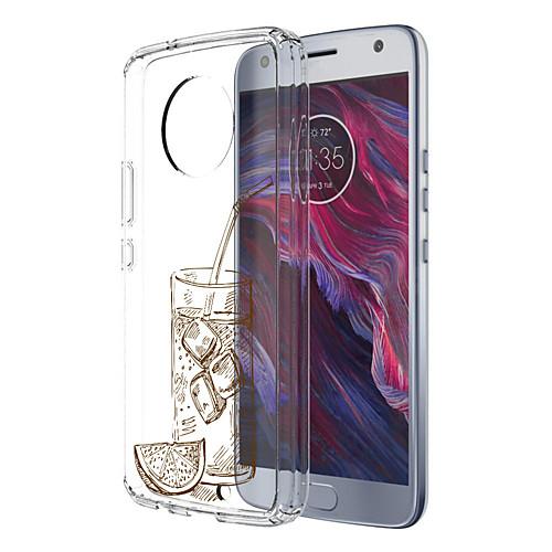 Кейс для Назначение Motorola E4 Plus С узором Кейс на заднюю панель Продукты питания Мягкий ТПУ для Moto X4 Moto E4 Plus Moto E4