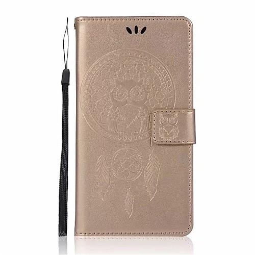 Кейс для Назначение Xiaomi Redmi Note 4X Redmi 4X Бумажник для карт Кошелек со стендом Флип С узором Чехол Ловец снов Сова Твердый Кожа PU защитный чехол для xiaomi redmi 4x