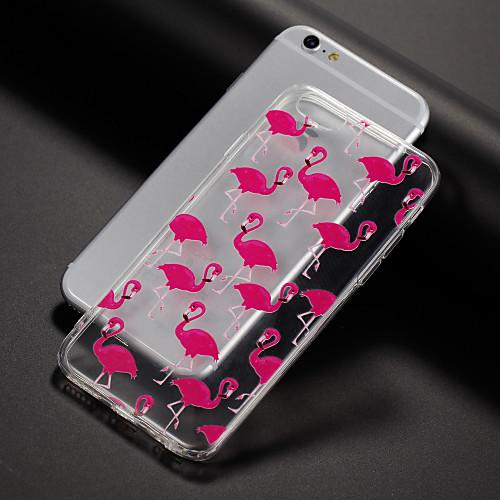 Кейс для Назначение Apple iPhone X / iPhone 8 / iPhone 7 С узором Кейс на заднюю панель Фламинго Мягкий ТПУ для iPhone XS / iPhone XR / iPhone XS Max