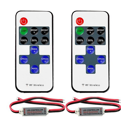2pcs 5050 SMD / 5730 SMD / 2835 SMD Газонокосилка / RF Wireless пластик Контроллер RGB для RGB LED Strip Light
