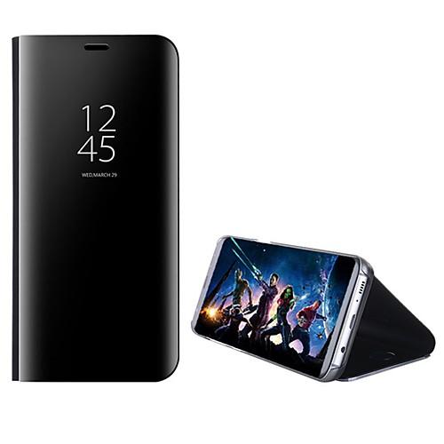Кейс для Назначение Huawei P9 / Huawei / Huawei P9 Plus P10 Plus / P10 Lite со стендом / Зеркальная поверхность / Флип Чехол Однотонный Твердый ПК для P10 Plus / P10 Lite / P10 фото