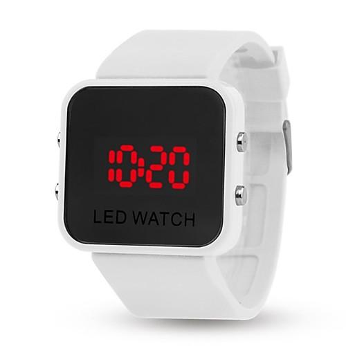 yy l8008 зеркало желе электронные браслет часы мужские женщины случайные студент ребенок автоматические цифровые часы