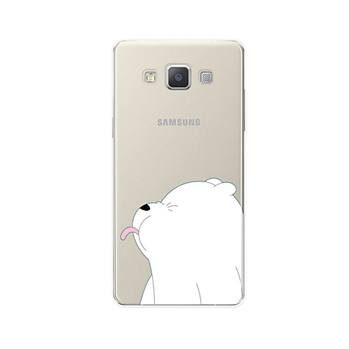 Case For Samsung Galaxy A7(2017) / A7(2016) Pattern Back Cover Animal / Cartoon Soft TPU for A3(2017) / A5(2017) / A7(2017)