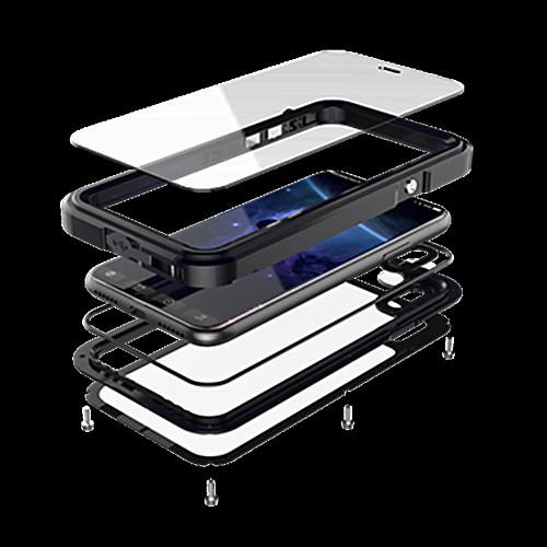 Кейс для Назначение Apple iPhone X iPhone X Вода / Грязь / Надежная защита от повреждений Чехол броня Твердый Металл для iPhone X