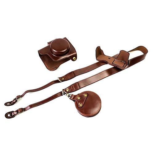 Купить со скидкой dengpin pu кожаный чехол для камеры сумка для olympus e-m10 mark iii 14-42mm объектив (различные цве