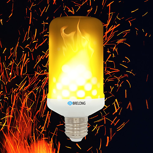 BRELONG 1шт 4W 700lm E14 E27 B22 LED лампы типа Корн 99 Светодиодные бусины SMD 2835 Эффект пламени Тёплый белый 85-265V цена