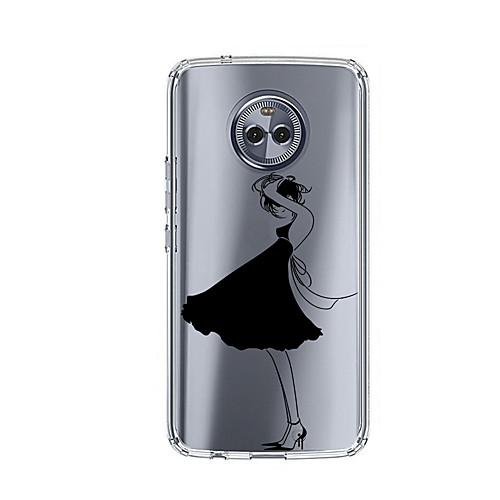 Кейс для Назначение Motorola E4 Plus С узором Кейс на заднюю панель Соблазнительная девушка Мягкий ТПУ для Moto X4 Moto E4 Plus Moto E4 prime book чехол для moto e4 plus black