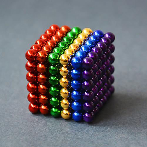 Купить со скидкой Магнитные игрушки Конструкторы / Неодимовый магнит / Магнитные шарики 216pcs 5mm Магнит Взрослые Под