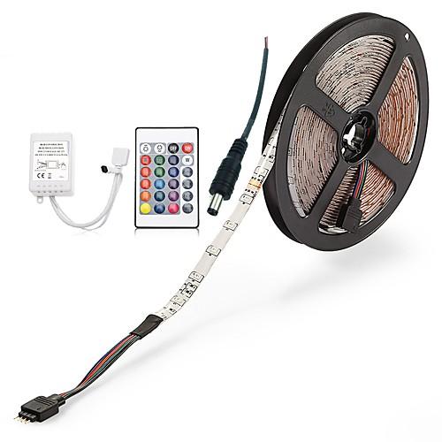 ZDM 300 светодиоды Светодиодная лента 5M 1 пульт дистанционного управления 24Keys 1 кабель переменного тока RGB Можно резать