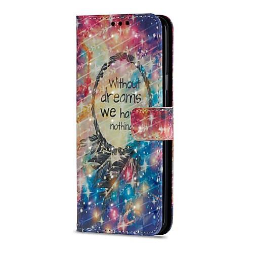 Кейс для Назначение SSamsung Galaxy S9 S9 Plus Бумажник для карт Кошелек со стендом Флип Магнитный Чехол Ловец снов Твердый Кожа PU для кейс для назначение ssamsung galaxy кейс для samsung galaxy бумажник для карт кошелек со стендом флип рельефный чехол ловец снов кожа pu