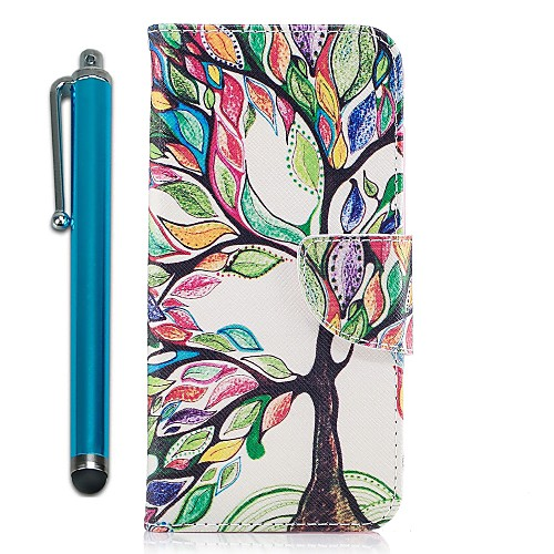 Case For Samsung Galaxy A8 2018 / A5(2017) Wallet / Card Holder / with Stand Full Body Cases Tree Hard PU Leather for A3(2017) / A5(2017) / A7(2017)