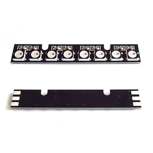 ws2812b rgb полноцветный 8-разрядный светодиодный микроконтроллер с лампочкой для платы arduino 5050 ws2812b 4 4 16 битный полноцветный 5050 rgb светодиодные лампы свет панели для arduino