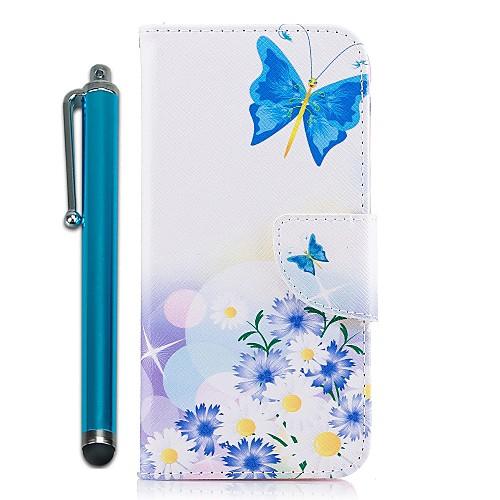 Кейс для Назначение SSamsung Galaxy S9 S9 Plus Бумажник для карт Кошелек со стендом Флип Магнитный Чехол Бабочка Цветы Твердый Кожа PU для