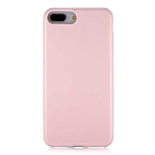 Кейс для Назначение Apple iPhone 7 Plus iPhone 7 удобный Кейс на заднюю панель Сплошной цвет Мягкий ТПУ для iPhone 7 Plus iPhone 7